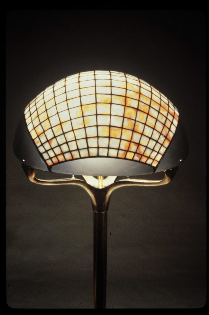 Peach and white Jewel Floor lamp (close up)