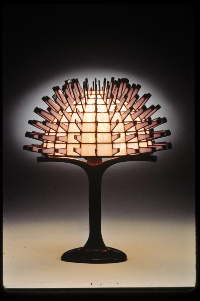 Bright Pink Porcupine Lamp 1982