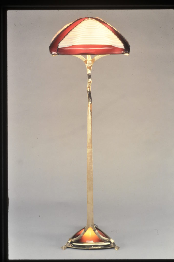 Burgandy Floor Lamp 1987