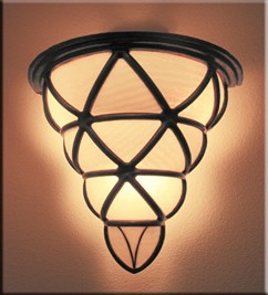 McKormick and Kuletos outdoor grape sconce