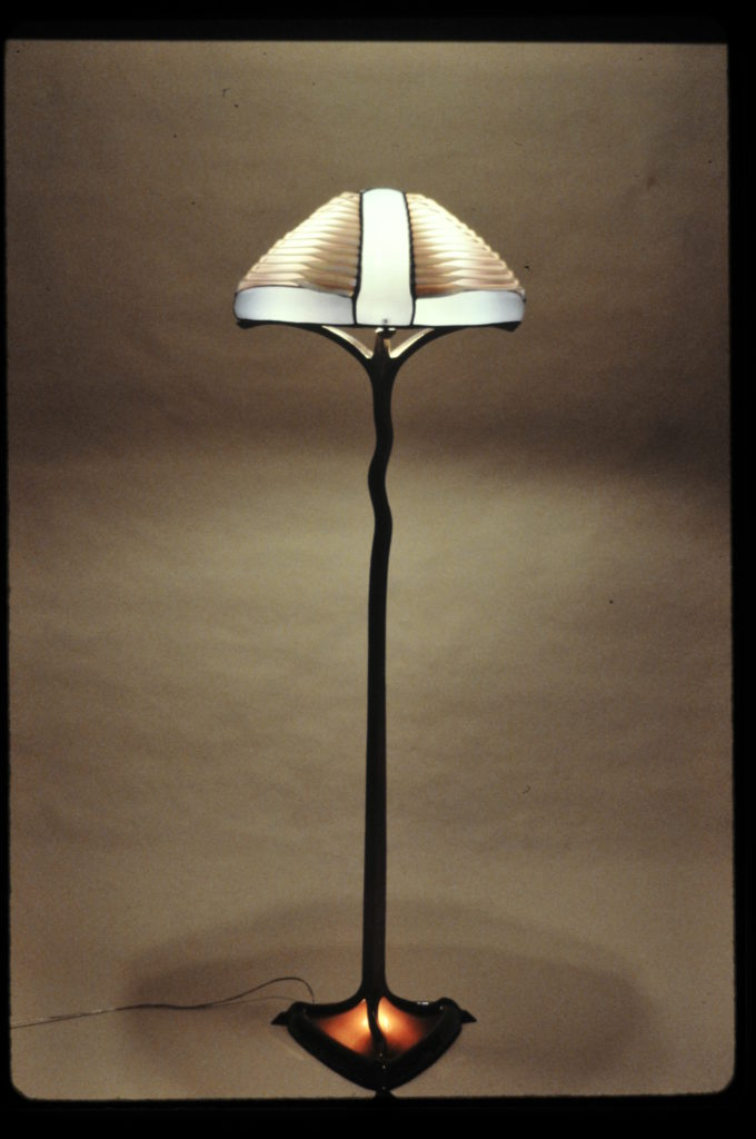Side view of Louvered floor lamp-1987