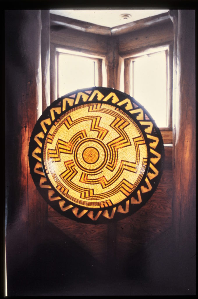 Sun Burst Indian Basket Lamp for Boot Jack Ranch 1999