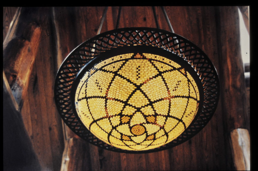 The Lotus Lamp made for Boot Jack Ranch 1999
